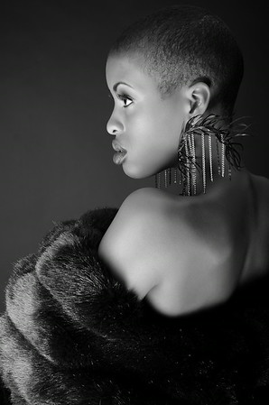 Bald, Black and beautiful series  Featuring model Shai La
